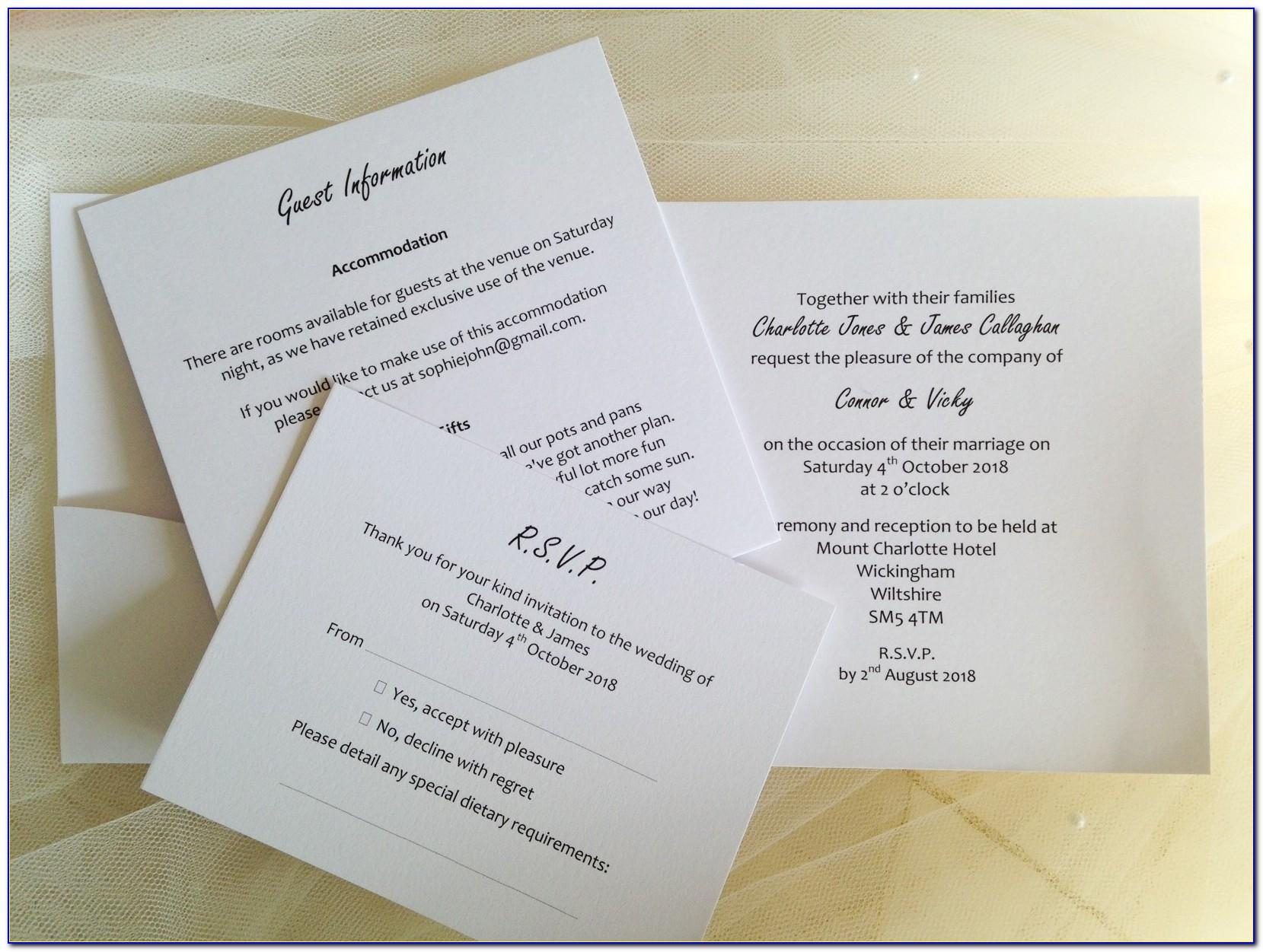Pocketfold Invitation Insert Template