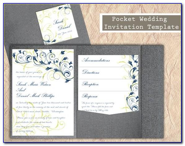 Pocketfold Invitation Template A4