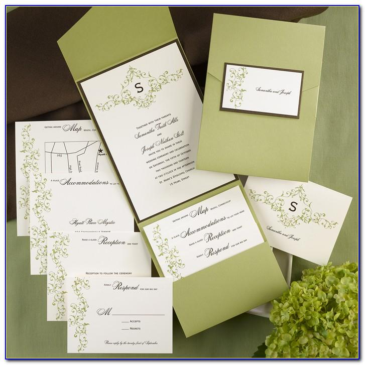 Pocketfold Invitation Template Free