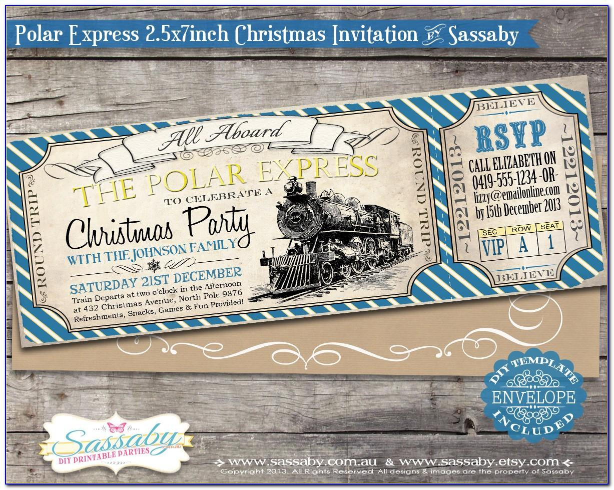 Polar Express Invitation Template Free