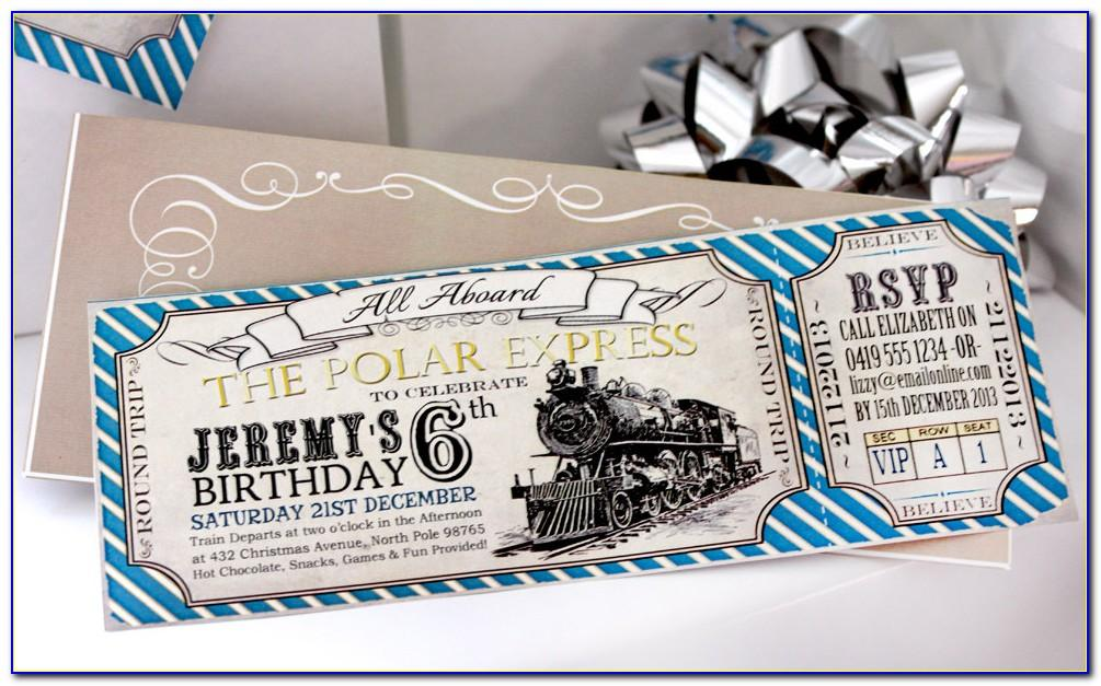 Polar Express Invitation Template