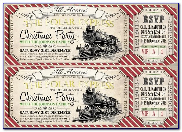 Polar Express Invite Template