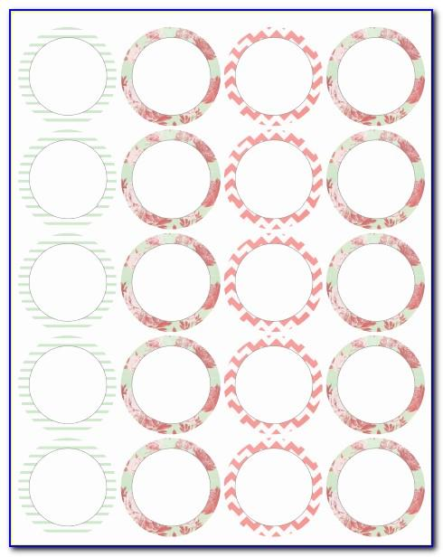 Polaroid Round Adhesive Label Templates