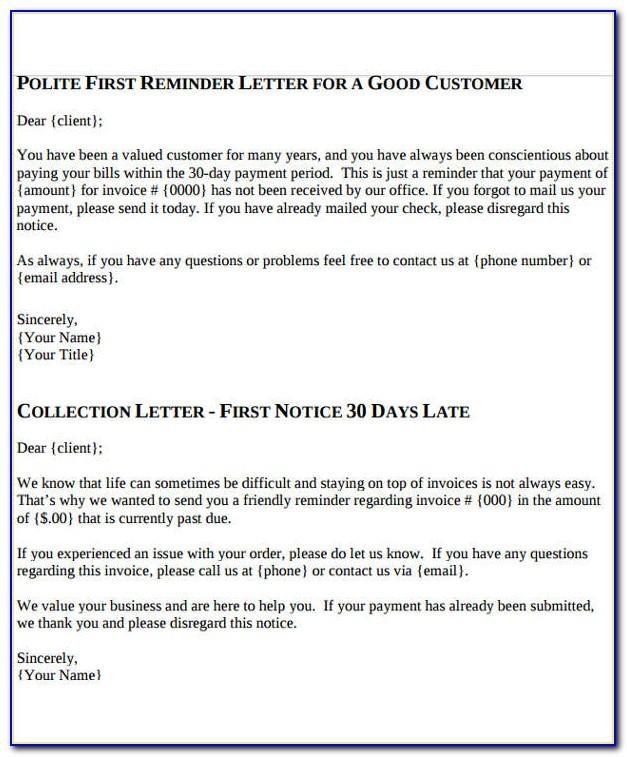 Polite Invoice Reminder Template