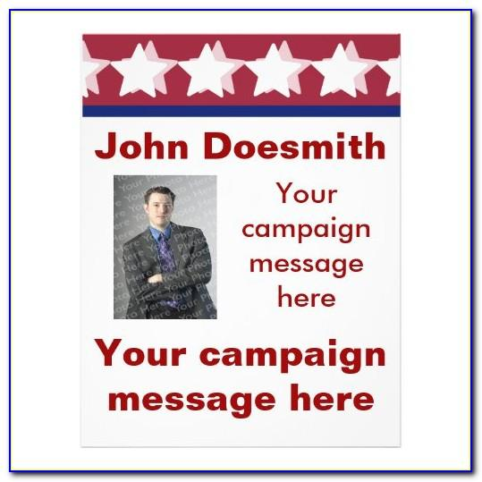 Political Campaign Brochures Templates