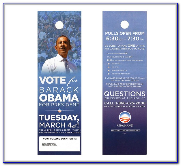 Political Campaign Door Hanger Template