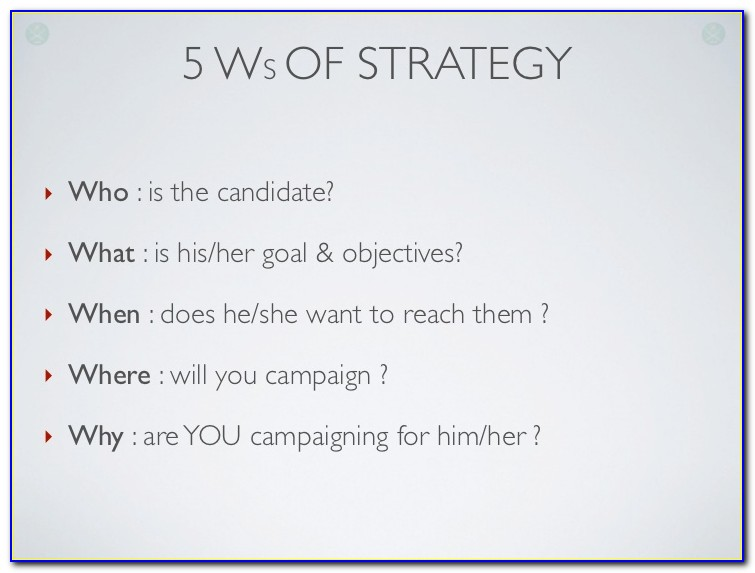 Political Campaign Plan Example