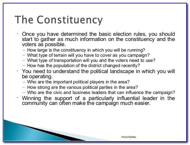 Political Campaign Plan Format