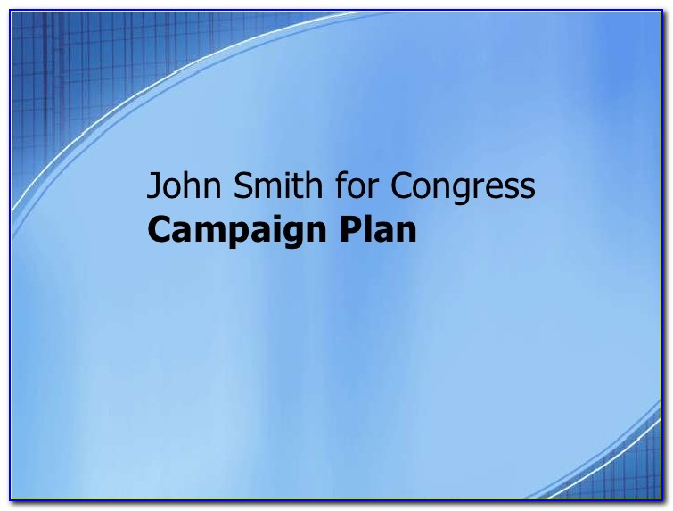 Political Campaign Plan Template