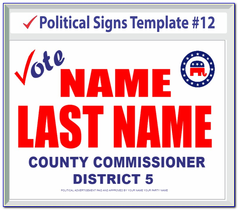Political Campaign Sign Templates