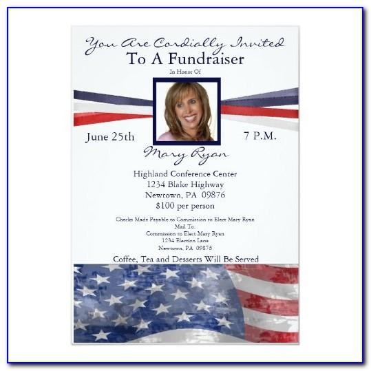 Political Fundraiser Invitation Template