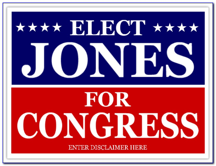 Political Sign Design Templates