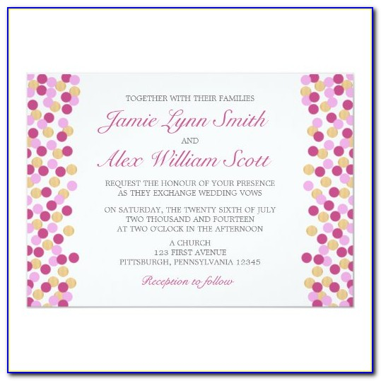Polka Dot Birthday Invitation Templates