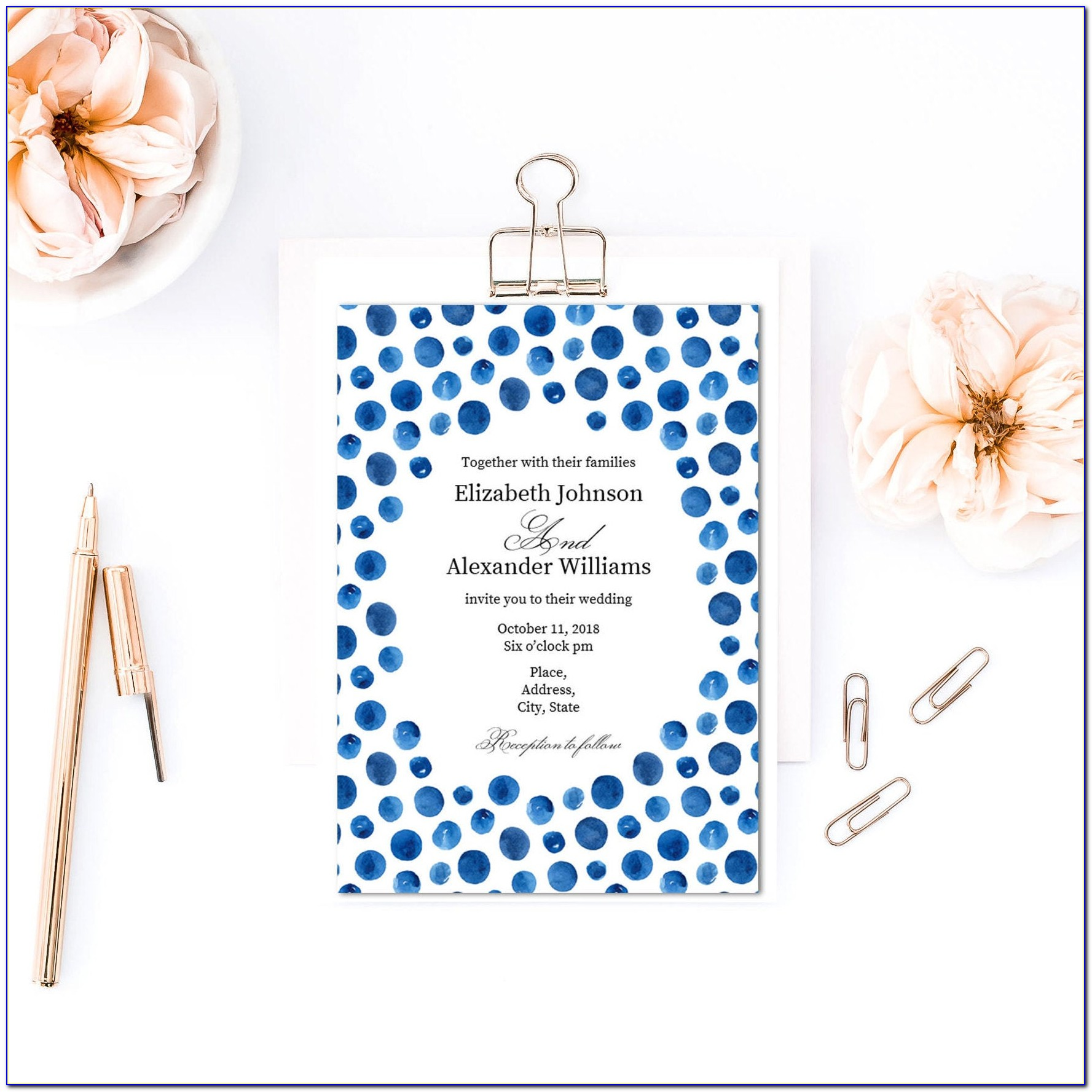 Polka Dot Birthday Party Invitation Templates