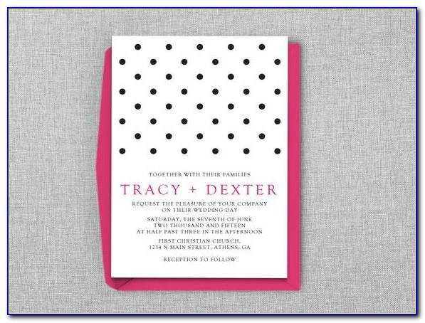 Polka Dot Wedding Invitation Template