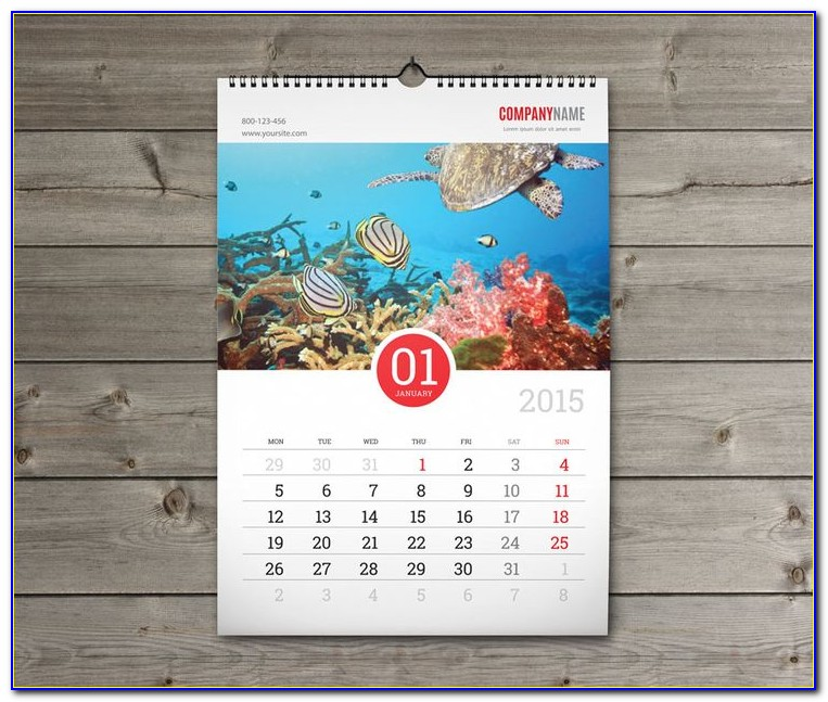 Poster Calendar Template Indesign