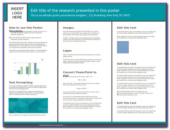 Poster Presentation Template Powerpoint Free Download
