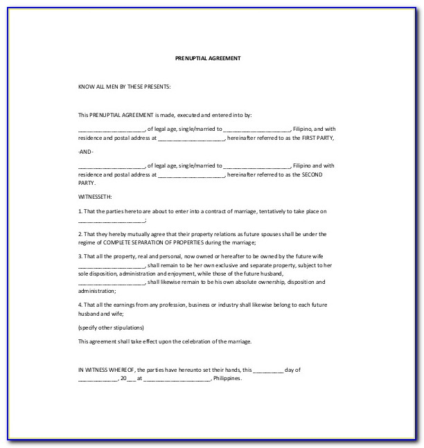 Postnuptial Agreement Template Uk
