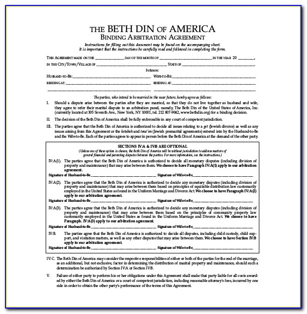 Postnuptial Agreement Texas Template