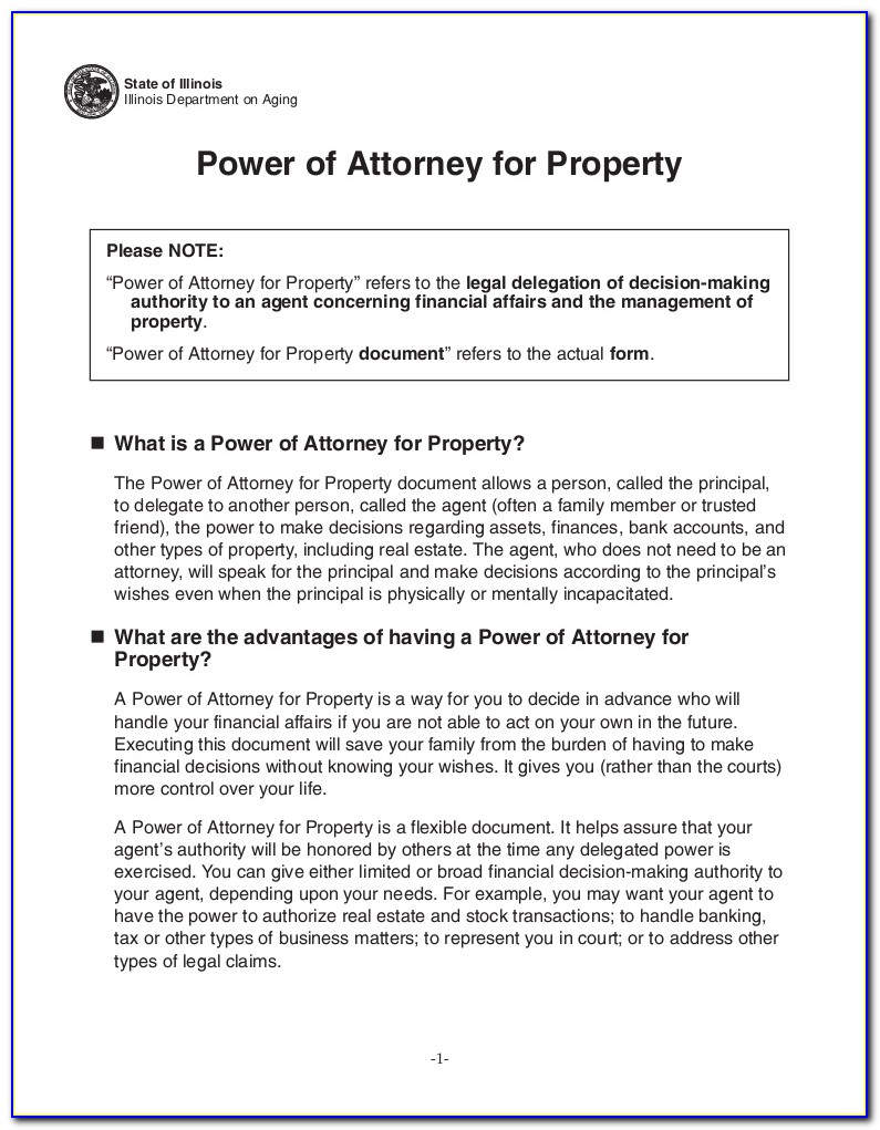 Power Of Attorney Document California