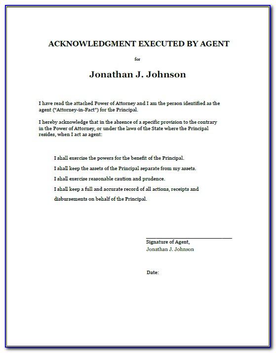 Power Of Attorney Documentation Ups