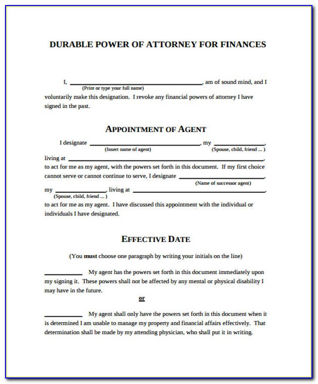 Power Of Attorney Form India For Property