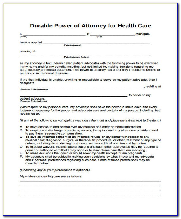Power Of Attorney Form Indiana Bmv