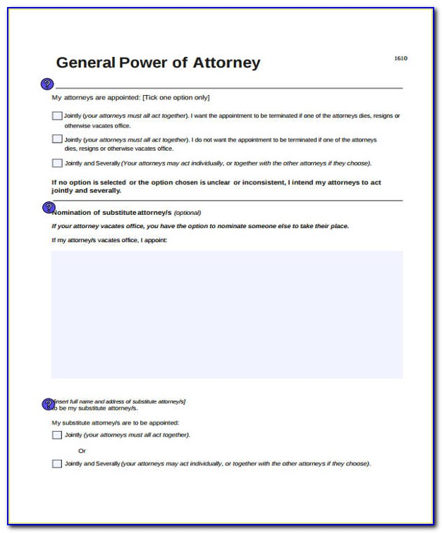 Power Of Attorney Form Nsw Pdf