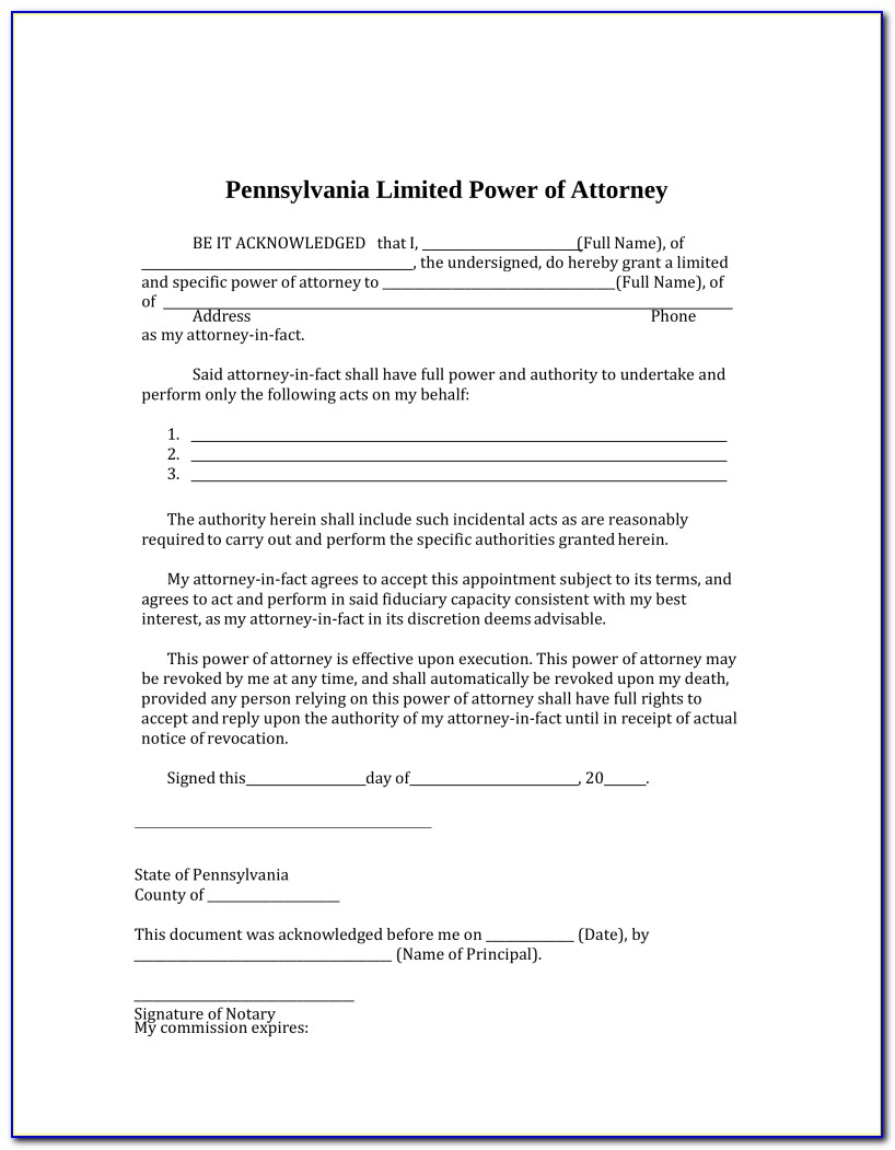 Power Of Attorney Paperwork Illinois