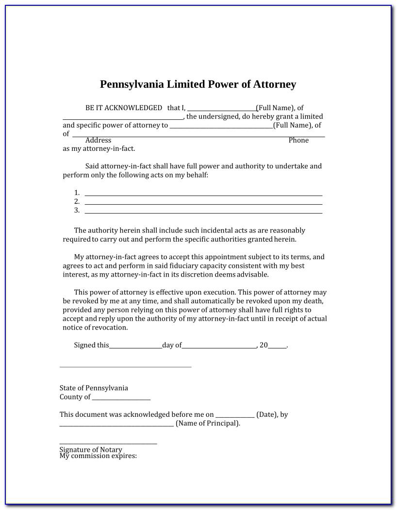 Power Of Attorney Paperwork Illinois