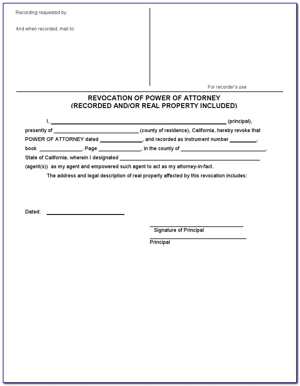 Power Of Attorney Pdf Texas