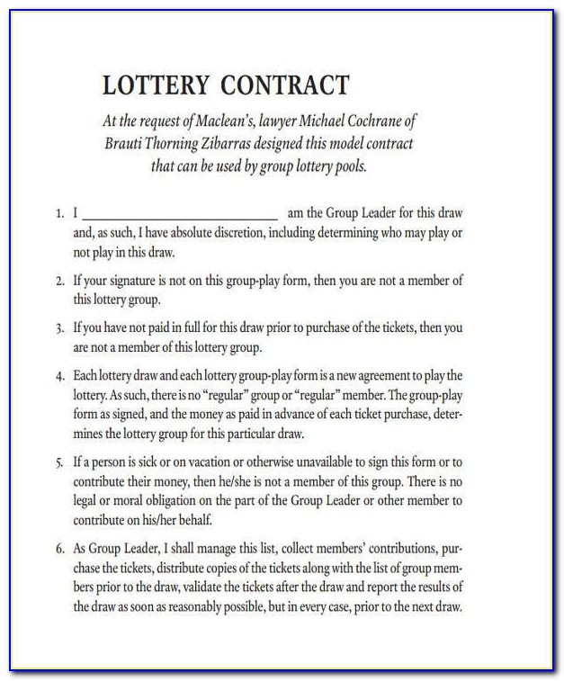 Powerball Lottery Contract Template