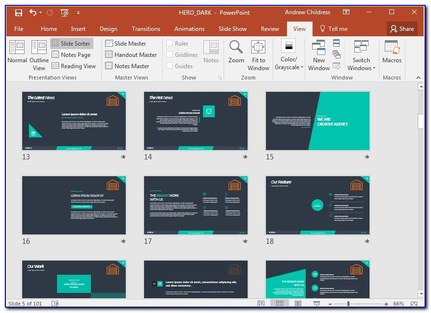 Powerpoint Edit Master Slide Template