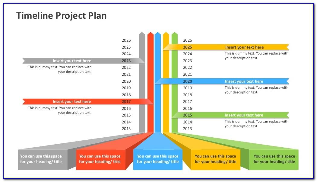Powerpoint Project Planning Calendar Template