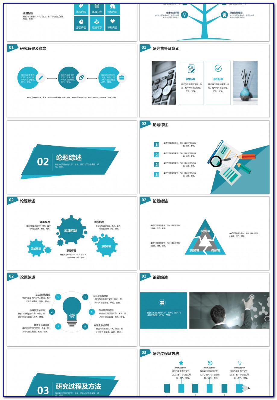 Powerpoint Template Tri Fold Brochure