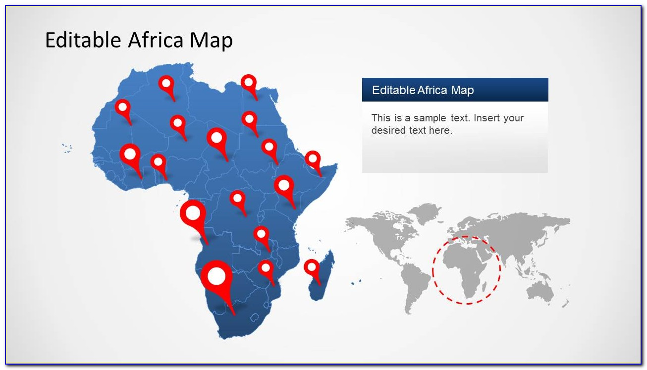 Powerpoint Templates Map Of Africa