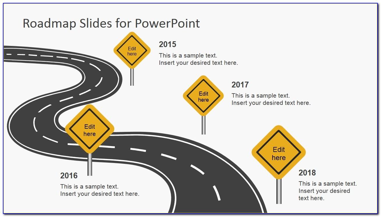 Project Roadmap Powerpoint Template Free