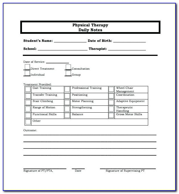 Sample Pediatric Occupational Therapy Soap Notes