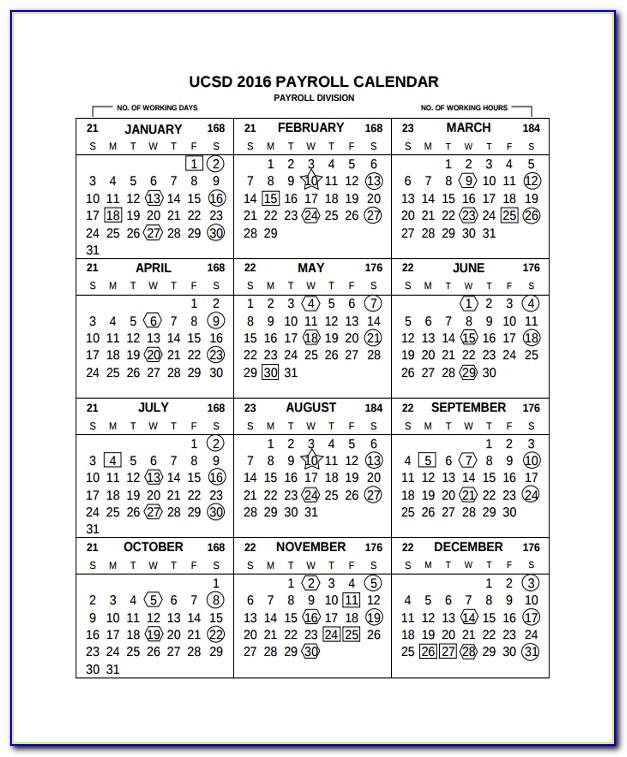 Semi Monthly Payroll Calendar 2017 Template