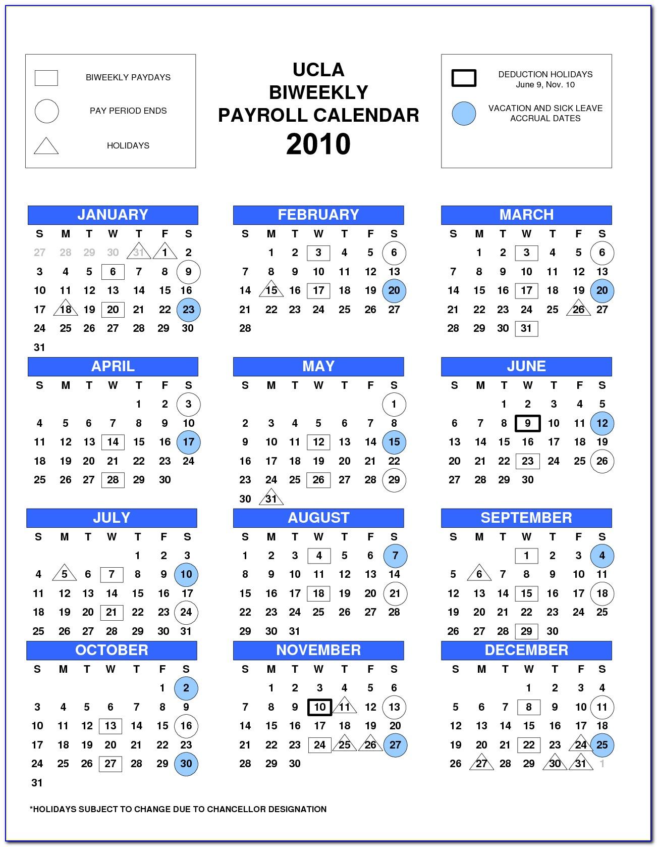 Semi Monthly Payroll Calendar 2018 Template