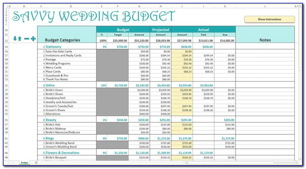 South African Personal Budget Template