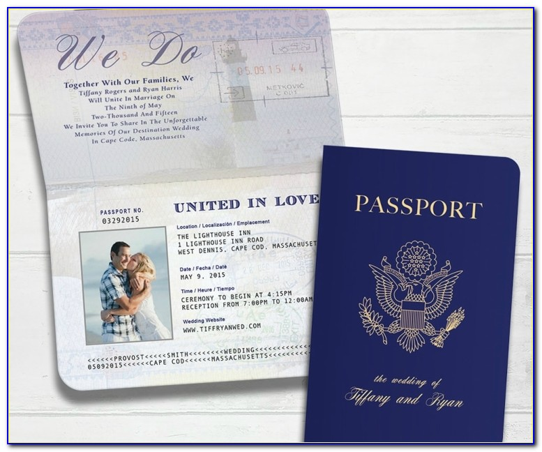 Wedding Invitation Passport Design