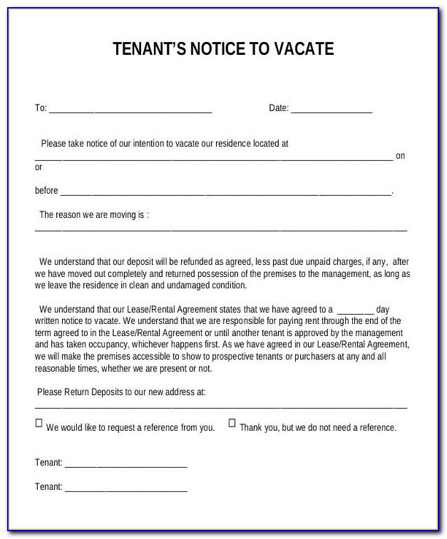 3 Day Notice To Vacate Texas Template