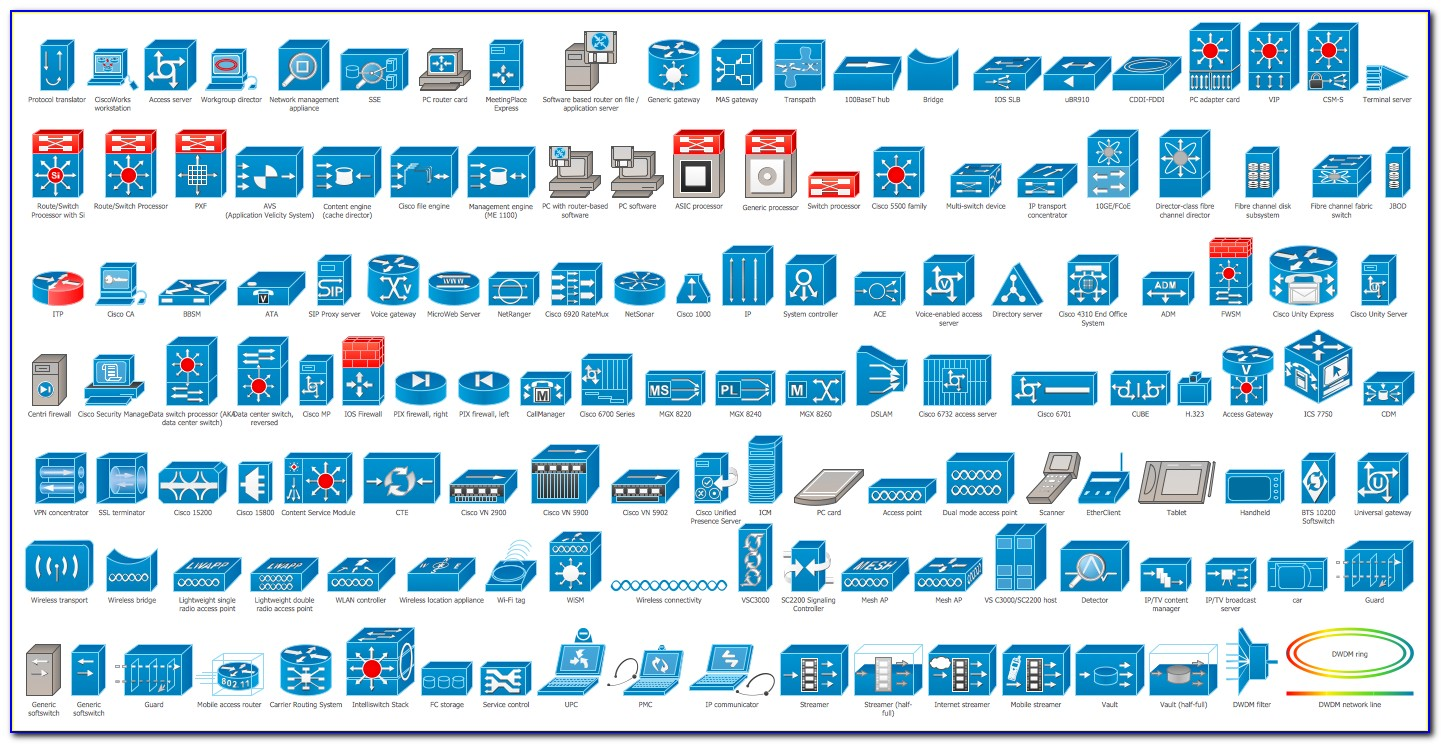 3d Network Visio Stencils Download