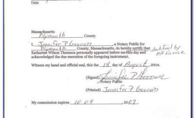 8 Notarized Affidavit Of Residency Template