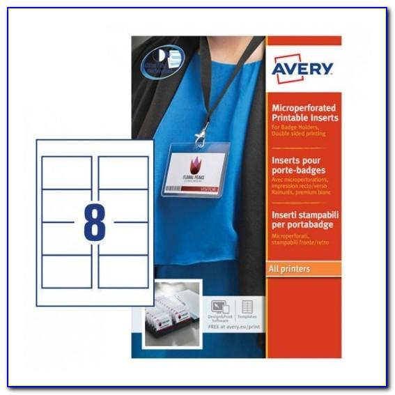 Avery Name Badge Insert Refills 5390 Template