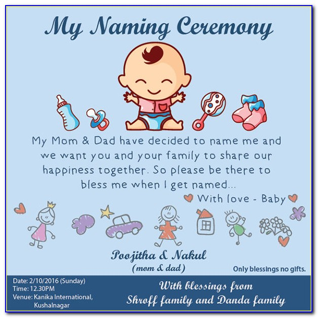Baby Naming Ceremony Invitation Format