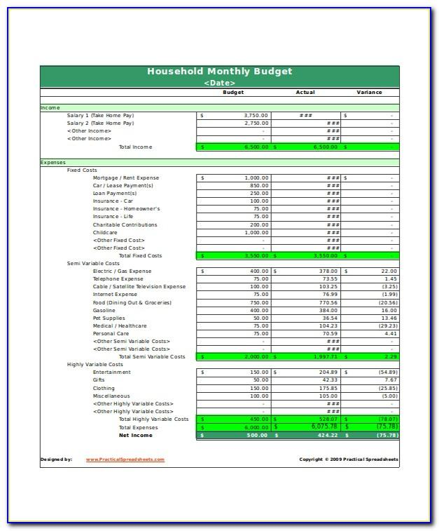 Bi Monthly Budget Worksheet Template