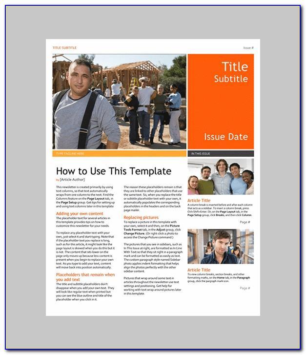 Download Microsoft Word 2007 Brochure Templates