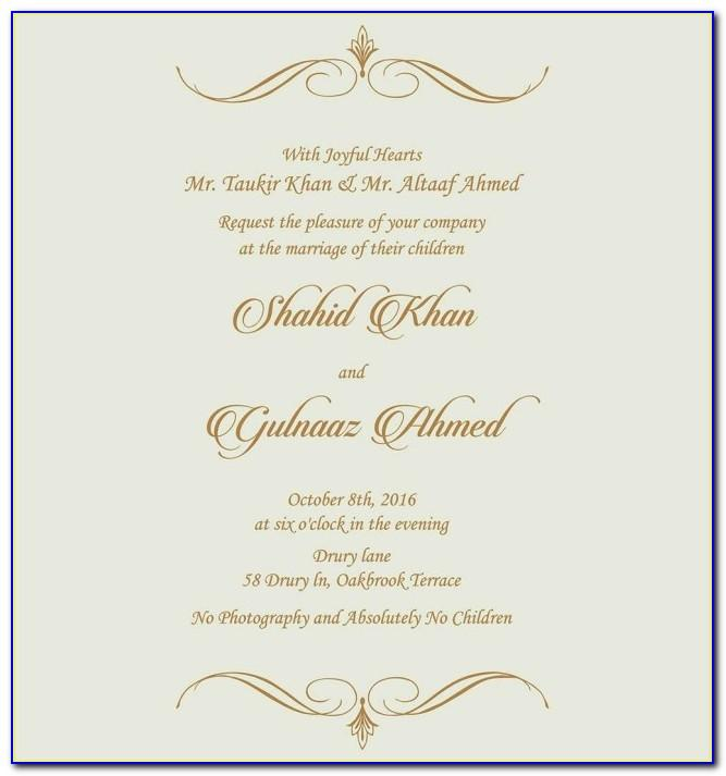 Editable Muslim Wedding Invitation Templates Free Download